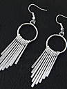 Women\'s Drop Earrings Hoop Earrings Tassel Fashion European Costume Jewelry Alloy Circle Jewelry For Party Daily