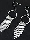 Women\'s Drop Earrings Hoop Earrings Tassel Fashion European Costume Jewelry Alloy Circle Jewelry For Party Daily