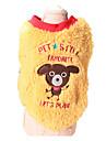 Dog Sweater Dog Clothes Keep Warm Animal Yellow Blue