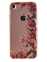 For iPhone 7 6S 6 TPU Material IMD Process Vintage Flower Vine Pattern Phone Case