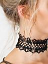 Női Rövid nyakláncok Nyilatkozat nyakláncok Tattoo Choker Csipke Nyilatkozat hölgyek Tetoválás Divat Fehér Fekete Nyakláncok Ékszerek Kompatibilitás Karácsonyi ajándékok Parti Születésnap Napi