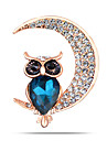 Women\'s Fashion Alloy/Rhinestone Moon Brooch Pin Party/Daily/Casual Animal Shapes Jewelry 1pc
