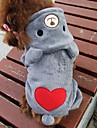 Cat Dog Costume Hoodie Dog Clothes Cute Cosplay Bear Gray Rose Costume For Pets