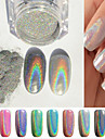 2G Box Nail Mirror Silver Powder Colorful Nail Accessories Take Swab