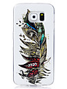 Case For Samsung Galaxy S7 edge S7 Glow in the Dark IMD Pattern Back Cover Feathers Soft TPU for S7 edge S7 S6 edge S6 S5