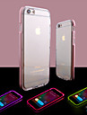 Para iPhone 8 iPhone 8 Plus iPhone 6 iPhone 6 Plus Case Tampa Luz de LED Transparente Capa Traseira Capinha Cor Solida Macia PUT para