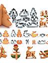 Molde Animal Desenhos Animados 3D para Sandwich Biscoito Bolo Pao Aco Inoxidavel Amiga-do-Ambiente Faca Voce Mesmo Ano Novo Pascoa