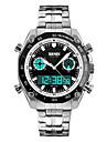 SKMEI Муж. Нарядные часы Модные часы Кварцевый LED Календарь Секундомер Защита от влаги С двумя часовыми поясами тревога Хронометр