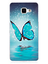 For Case Cover Glow in the Dark IMD Back Cover Case Butterfly Soft TPU for Samsung Galaxy A5(2016) A3(2016)