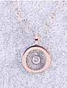 Женский Ожерелья с подвесками Титановая сталь Бижутерия Для Свадьба Для вечеринок Повседневные 1шт