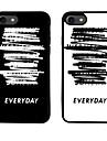 Для С узором Кейс для Задняя крышка Кейс для Слова / выражения Мягкий TPU для AppleiPhone 7 Plus iPhone 7 iPhone 6s Plus/6 Plus iPhone