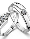 Jewelry Pure Womens 925 Silver-Plated High Quality Handwork Elegant Ring 2PCS Promis Rings for Couples