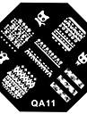 ногтей штамп штамповка изображения шаблон пластины