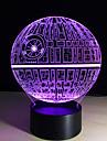 1 ед. 3D ночной свет Пульт управления Ночное видение Маленький размер Меняет цвета Художественный LED Модерн