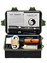 U\King Torce LED Kit per torce LED 2000 Lumens 3 Modo Cree XM-L T6 Si Messa a fuoco regolabile Gancio per