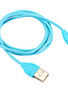 USB 2.0 / C-tyypin Kannettava Kaapeli Samsung / Huawei / LG varten 100 cm Käyttötarkoitus PVC