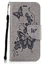 Назначение iPhone X iPhone 8 Чехлы панели Бумажник для карт Кошелек со стендом Флип Рельефный С узором Чехол Кейс для Бабочка Твердый