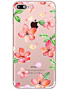 Capinha Para Apple iPhone X iPhone 8 Plus Transparente Estampada Capa Traseira Flor Macia TPU para iPhone X iPhone 8 Plus iPhone 8 iPhone