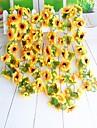 Kunstige blomster 1 Afdeling minimalistisk stil Solsikke Vægblomst
