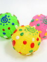 Squeaking Toy Foldable Squeak / Squeaking Elastic Durable Halloween Nobbly Wobbly Sun Ball Rubber For Cat Dog