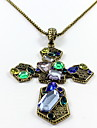 Women\'s Pendant Necklaces Jewelry Single Strand Cross Synthetic Gemstones Resin Alloy Pendant Natural Personalized Euramerican Jewelry For