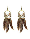 Women\'s Drop Earrings Acrylic Wood Feather Alloy Jewelry Wedding Party Daily Casual Sports