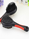Cat Dog Grooming Cleaning Comb Brush Waterproof Double-Sided Black