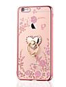Pour iPhone 8 iPhone 8 Plus Etuis coque Strass Plaque Anneau de Maintien Coque Arriere Coque Fleur Flexible PUT pour Apple iPhone 8 Plus