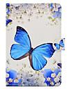 Para Com Suporte Estampada Capinha Corpo Inteiro Capinha Borboleta Rigida Couro PU para Apple iPad Mini 4 iPad Mini 3/2/1