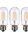 ONDENN 3pcs 4 W 500-600 lm B22 / E26 / E27 LED Λάμπες Πυράκτωσης 4 LED χάντρες COB Με ροοστάτη Θερμό Λευκό 220-240 V / 110-130 V / 3 τμχ / RoHs / CE