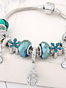 Women\'s Charm Bracelet - Rhinestone Flower Fashion Bracelet Blue For Party / Birthday