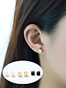 Women\'s Geometric Stud Earrings - Basic Gold / Black / Silver For Party / Daily / Casual