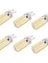 BRELONG® 6W 550 lm G9 E26/E27 LED лампы типа Корн T 80 светодиоды SMD 5730 Диммируемая Декоративная Тёплый белый Холодный белый AC