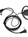 D סוג אוזניות ptt 1 פינים fbi earhook האוזניה עבור מוטורולה ניידים חזיר אוזניות tlkr t3 t4 t60 t80 mr350r walkie talkie