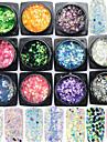 11bottle/set Gioielli per unghie Glitter e Poudre Altre decorazioni Glitters Di tendenza Adorabile scintillante Matrimonio Alta qualita