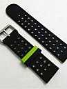 pour bracelet en caoutchouc de silicone classique Samsung Gear a double sangle porte laterale pour bracelet de ceinture poignet frontiere