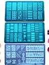 1pcs colorido&lindo design de moda DIY estamparia de aco inoxidavel placa ungueal carimbar stencils beleza placa unha polones