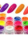 13bottles/set Гель для ногтей порошок Neon & Bright Блеск и сияние Высокое качество Повседневные Дизайн ногтей