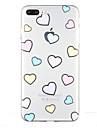 용 투명 패턴 케이스 뒷면 커버 케이스 심장 소프트 TPU 용 Apple 아이폰 7 플러스 아이폰 (7) iPhone 6s Plus iPhone 6 Plus iPhone 6s 아이폰 6