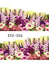 10pcs/style Adesivos para Manicure Artistica Transferencia de agua adesivo maquiagem Cosmeticos Designs para Manicure