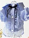 Собака Платья Одежда для собак Хлопок Весна/осень Очаровательный В полоску Красный Синий Костюм Для домашних животных