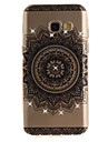 For Samsung Galaxy A3 A5 (2016) (2017) Case Cover Datura Flower Pattern HD Painted Drill TPU Material IMD Process High Penetration Phone Case