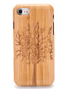 For Apple iPhone 7 7Plus Embossed Pattern Case Back Cover Case Wood Grain Tree Hard Solid Wood 6s plus 6 plus 6s 6