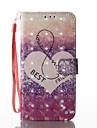 Для Кошелек Бумажник для карт со стендом Флип С узором Кейс для Чехол Кейс для С сердцем Твердый Искусственная кожа для SamsungS8 S8 Plus