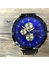 JUBAOLI Муж. Спортивные часы Кварцевый Крупный циферблат Кожа Группа Cool Черный
