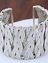 Femme Manchettes Bracelets Mode Style Punk Alliage Forme Ronde Or Argent Bijoux Pour Soiree 1pc