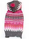 Собака Свитера Одежда для собак На каждый день Мода геометрический Пурпурный Костюм Для домашних животных