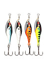"4 pcs Spinner Baits Fishing Lures Buzzbait & Spinnerbait Green Orange Silver Blue g/Ounce mm/2-5/8"" inch,MetalSea Fishing Spinning"