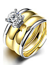 Жен. Классические кольца Кольцо Обручальное кольцо Мода Простой стиль Свадьба Титановая сталь Круглой формы Бижутерия Назначение Свадьба