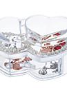 Acrylic Large Capacity Heart Makeup Cosmetics Storage Organizer Jewelry Display Box Lid Drawer